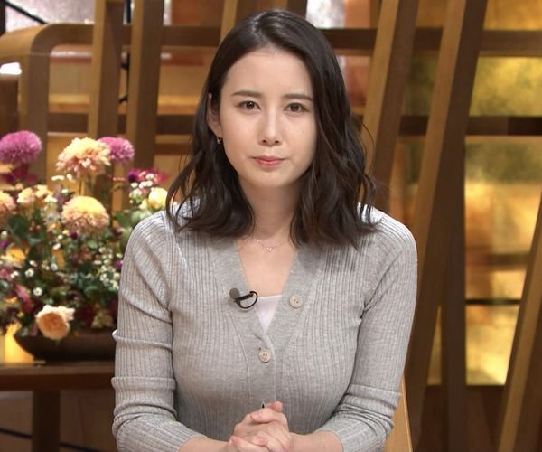 森川夕貴アナの乳形クッキリステーション