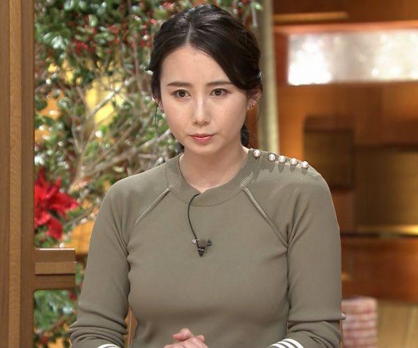 森川夕貴アナの乳形クッキリステーション part2