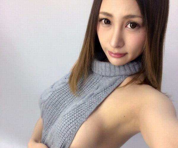 「童貞を殺すセーター」 やはり巨乳が着ると凄いえちえちな着エロ画像