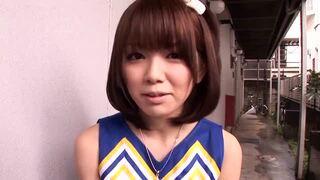 【エロ動画】ロリのチアリーダー女の子、希美まゆのフェラコスプレ手コキプレイがエロい。可愛らしすぎる!