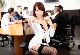 【無修正】波多野結衣 美人OLが会議室で同僚の男達に好き放題犯される中出し輪姦