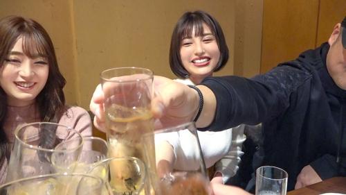 朝までハシゴ酒 66 in浜松町駅周辺 マロン 22歳 ラウンジ嬢 / ハヅキ 23歳 ラウンジ嬢 300MIUM-665(夏希まろん,若宮はずき) 04