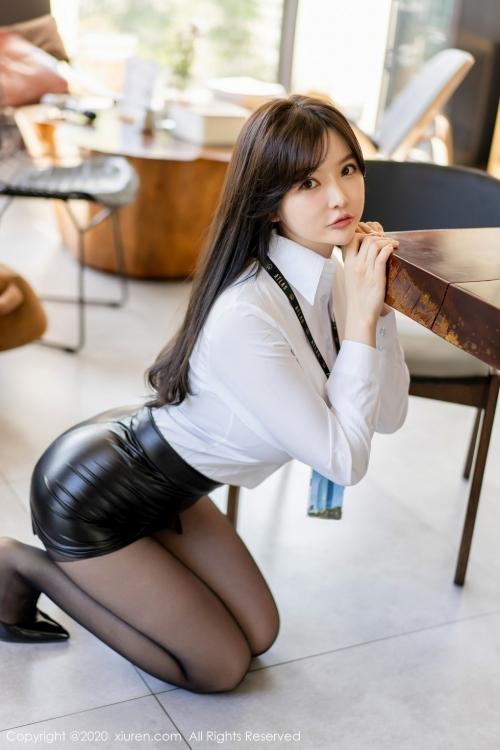男が妄想する「えっちな秘書」XiuRen 糯美子Mini  05