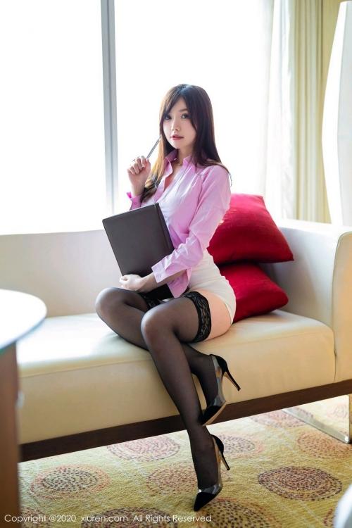 男が妄想する「えっちな秘書」XiuRen 糯美子Mini  35