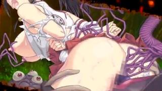【新作】個性溢れるエロ妖怪にアナルやま○こを犯されまくる巨乳巫女!