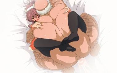 「孕めぇぇーー!!」だいしゅきホールドで初交尾!おじさんの巨根ち〇ぽで子宮を種付けされる巨乳娘!