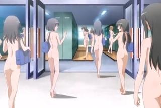 発明品の透しメガネでハーレム展開!オッパイ丸見えな全裸女子に大興奮!