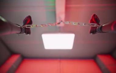 性拷問装置の実験台にされた美少女がマングリ吊るし攻めで理性崩壊!