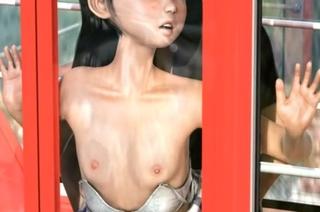 「だめぇ‥先輩‥」観覧車で欲情したロリコン男に種付けされるちっぱい娘!