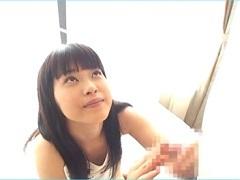 <MiCO>長髪美女に見つめられて手コキされる