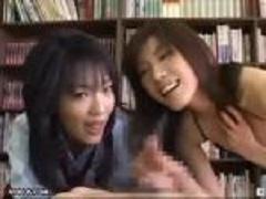 <立花里子・早乙女みなき>JKと女教師に誘惑されて手コキで・・・