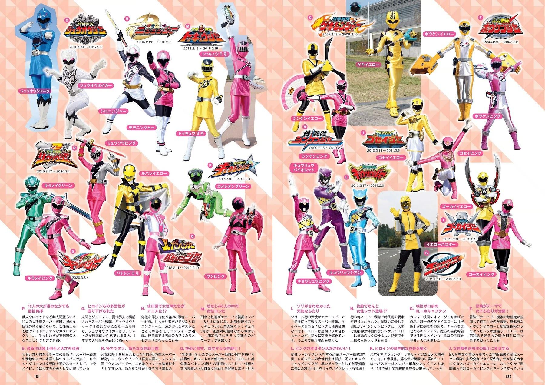 スーパー戦隊ヒロイン12