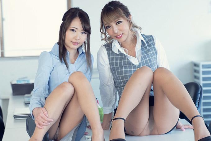 朝比奈菜々子 × ルナ レズビアン上司とオフィスラブ