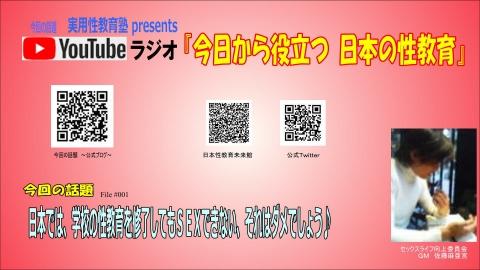 日本の性教育 Youtube ラジオ 佐藤麻亜宮