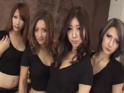【無】S級極上美女4人組を欲望の限りにハメ倒す中出し大乱交♪