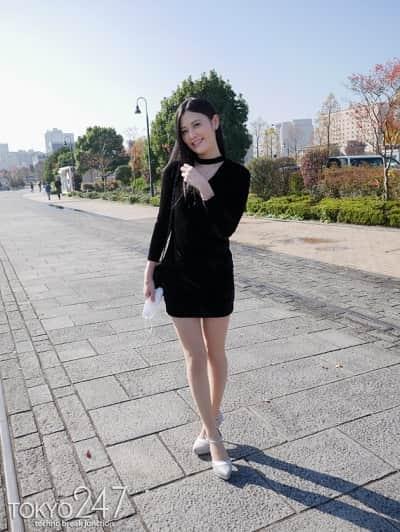 170cmと高身長でスレンダーなアジア系ハーフっぽい顔立ちの美人モデルが中出し懇願する姿はエロすぎるwww1