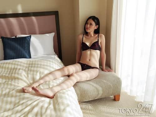 170cmと高身長でスレンダーなアジア系ハーフっぽい顔立ちの美人モデルが中出し懇願する姿はエロすぎるwww4