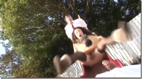 【松本まりな】ママと遊ぼう奇跡の二穴結合滑り台。『ダメ!動かしちゃ駄目!おかしくなっちゃう』