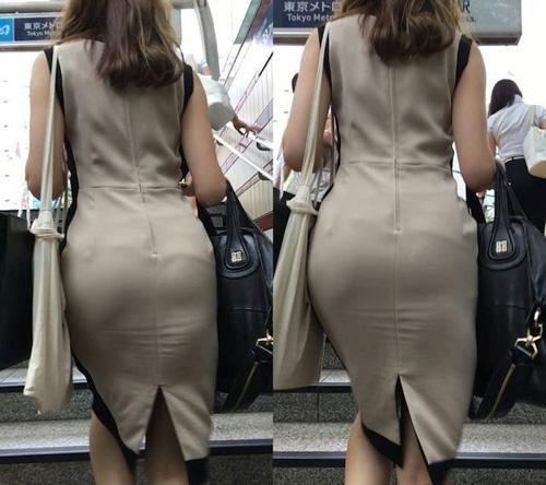 【画像有】タイトスカートはいた美人熟女のエロさは異常