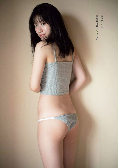 NNMB48上西怜のおっぱいハミ出そうな巨乳水着7