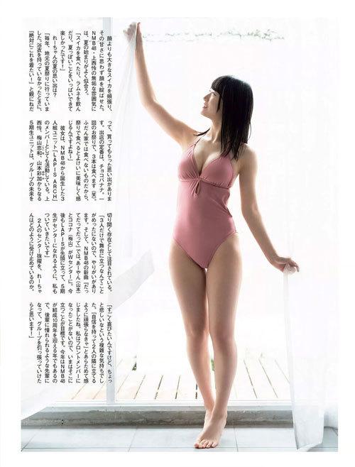 NNMB48上西怜のおっぱいハミ出そうな巨乳水着15