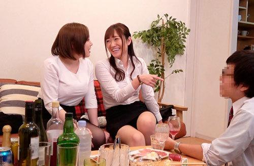 一般男女ドキュメントAV ほろ酔い爆乳女部下たちと宅飲み→逆セクハラ→朝まで中出し(立場逆転)2
