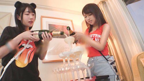 日本最大級のEDMフェスでナンパしたJD2人組!イベントサークル同士の交流と称しホテルに連れ込み酒を飲ませてフニャフニャにさせたら、秘密の4Pフェス開催♪ - ひかる 20歳 大学生/るい 20歳 大学生 03