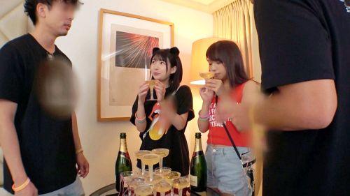 日本最大級のEDMフェスでナンパしたJD2人組!イベントサークル同士の交流と称しホテルに連れ込み酒を飲ませてフニャフニャにさせたら、秘密の4Pフェス開催♪ - ひかる 20歳 大学生/るい 20歳 大学生 04