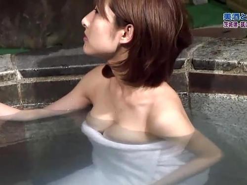 女子アナさん、温泉ロケで乳首ハプニングを起こすwさすがっすwwwww(エ□画像)
