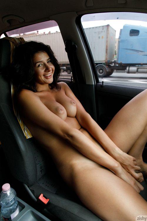 Nadia Serbinenko - DRIVES A SKODA 16