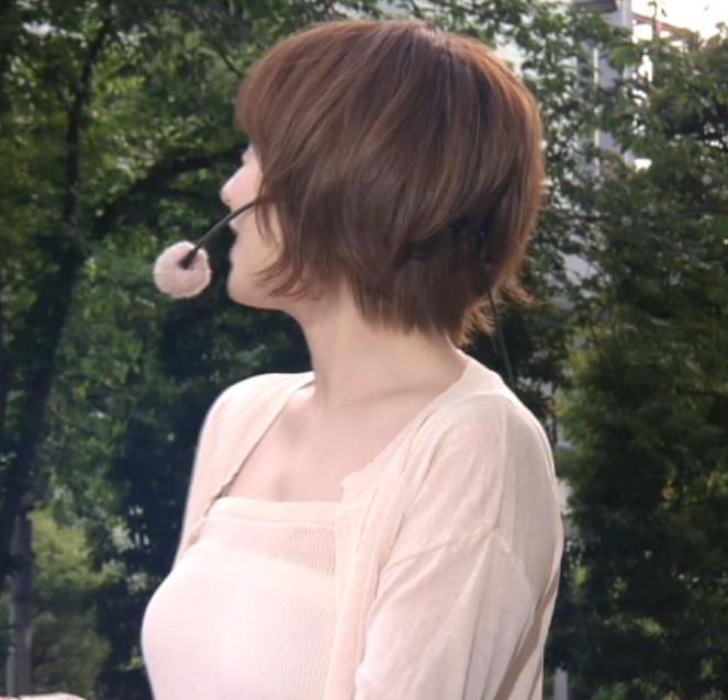 阿部華也子 ヌーディでエロい色の衣装キャプ・エロ画像