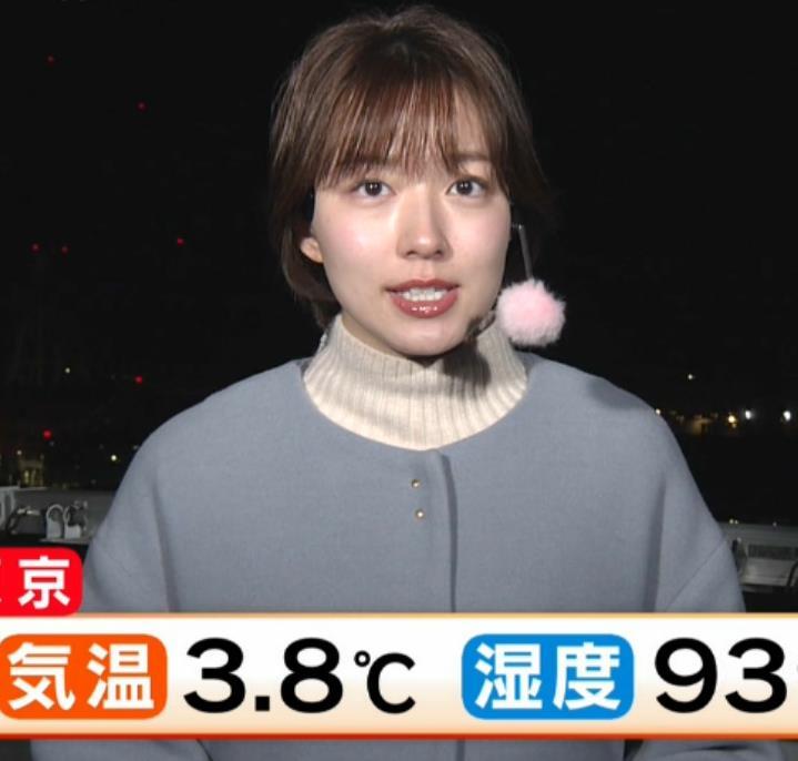 阿部華也子 寒くてもミニスカートキャプ・エロ画像