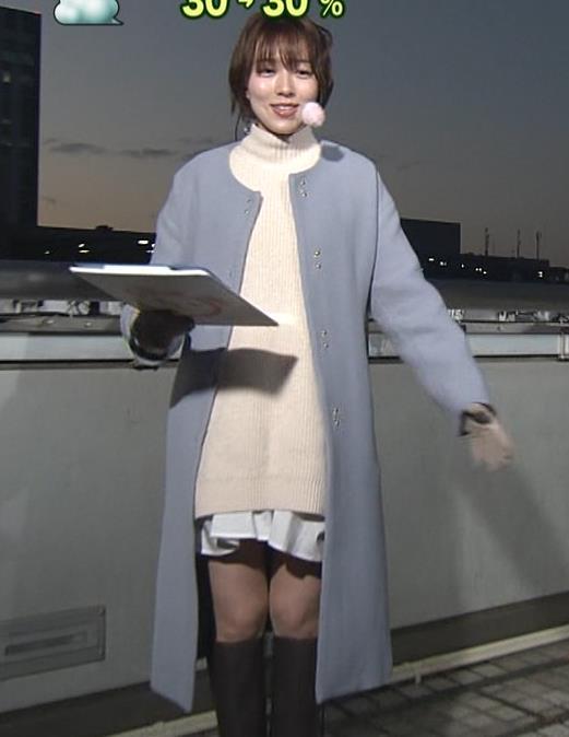 阿部華也子 寒くてもミニスカートキャプ・エロ画像2