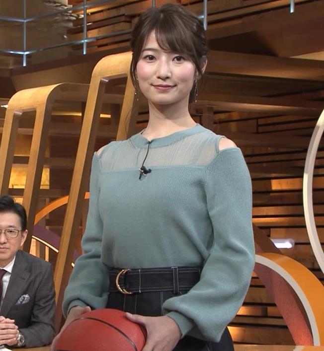 安藤萌々アナ 横乳キャプ・エロ画像