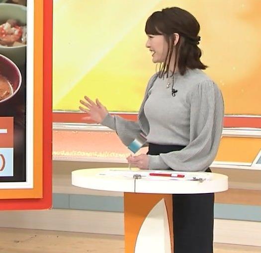 新井恵理那 エロいおっぱいとタイトなスカートな腰回りキャプ・エロ画像
