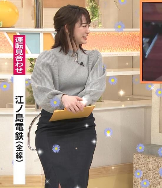 新井恵理那 エロいおっぱいとタイトなスカートな腰回りキャプ・エロ画像5