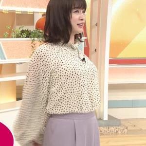 新井恵理那 胸を張っておっぱいが際立つ