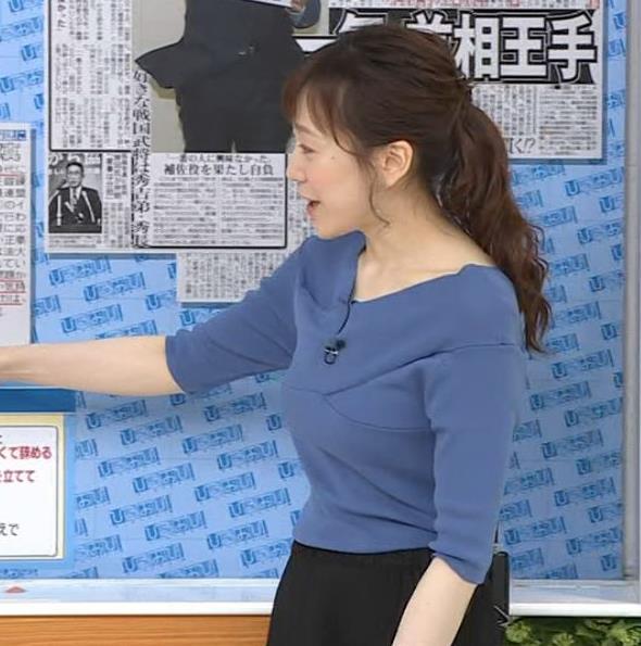 江藤愛アナ 横乳キャプ・エロ画像3