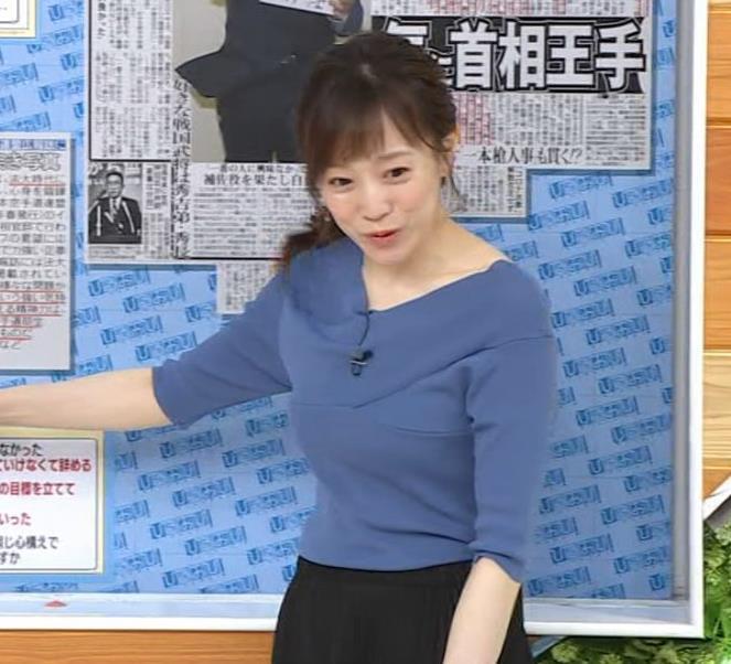 江藤愛アナ 横乳キャプ・エロ画像4