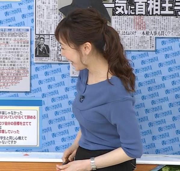 江藤愛アナ 横乳キャプ・エロ画像5