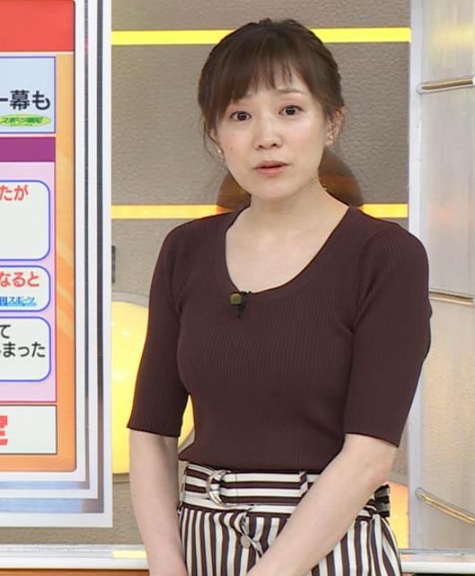 江藤愛アナ ニットおっぱいキャプ・エロ画像5