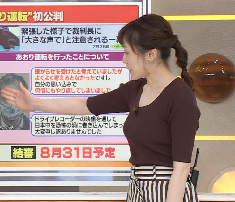 江藤愛アナ ニットおっぱいキャプ・エロ画像6