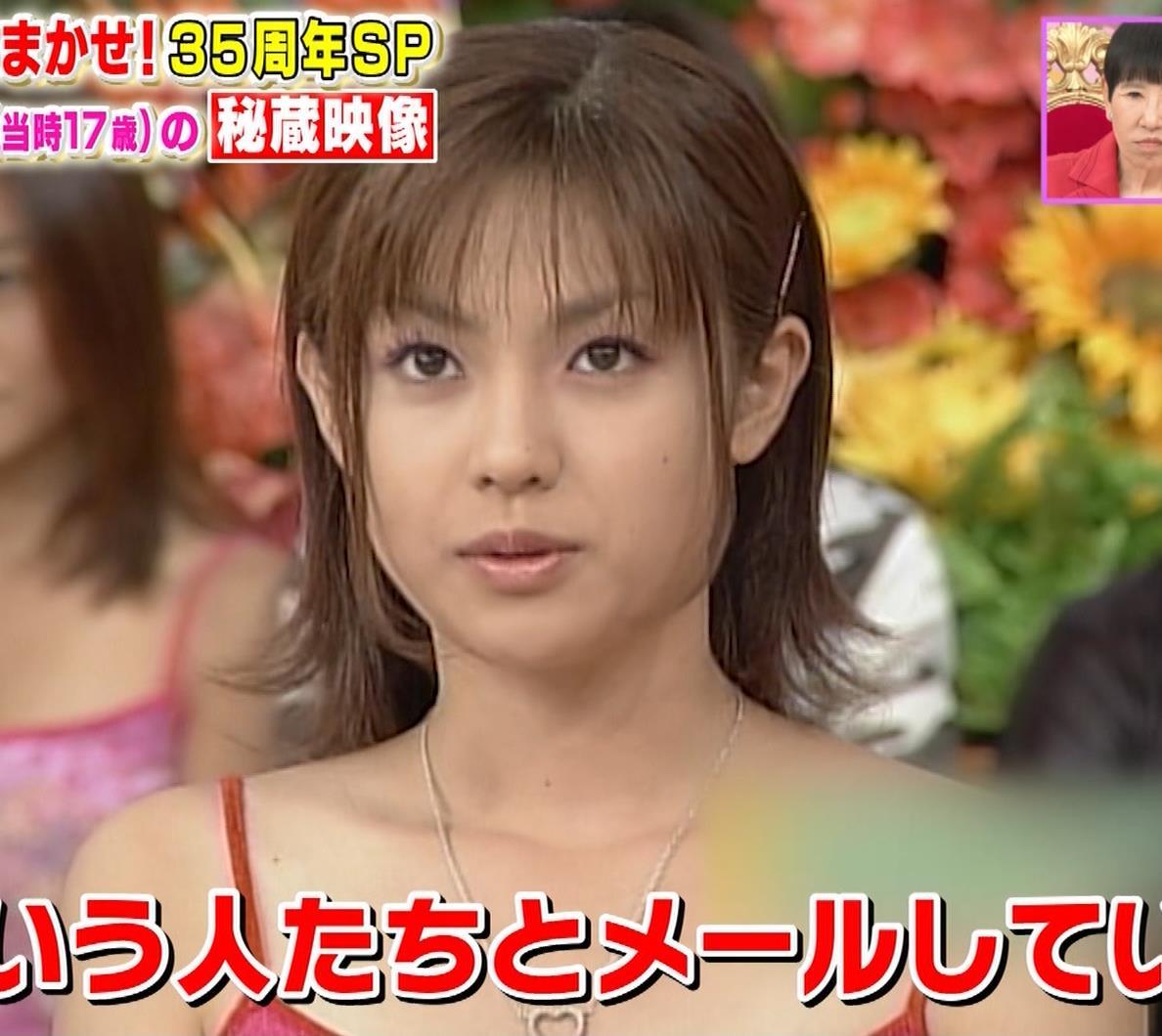 深田恭子 20年前のエロいキャミソール姿キャプ・エロ画像3