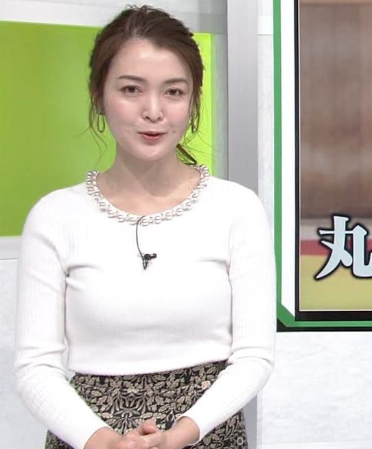 福田典子アナ ニットおっぱいキャプ・エロ画像4