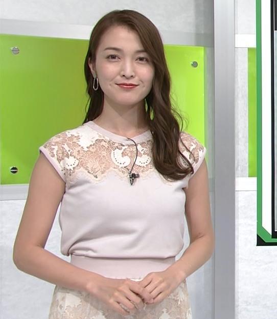 福田典子アナ レースの透け衣装キャプ・エロ画像