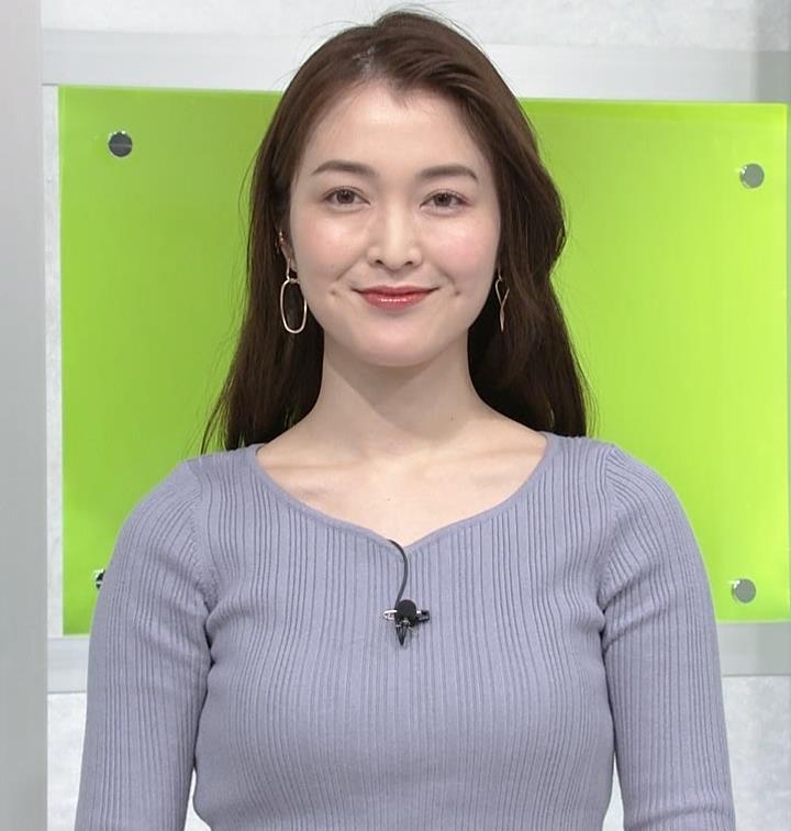 福田典子 美人アナのニットおっぱいキャプ・エロ画像