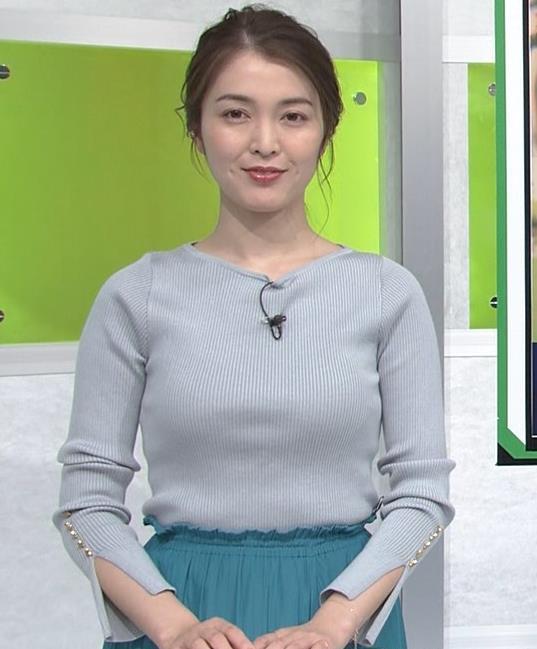 福田典子アナ このニットおっぱいがエロいキャプ・エロ画像