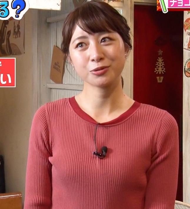 林美沙希アナ ニットおっぱいキャプ・エロ画像6