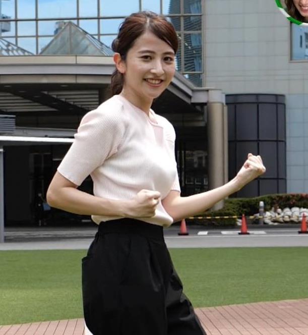 日比麻音子アナ エロかわいいニットおっぱいキャプ・エロ画像4