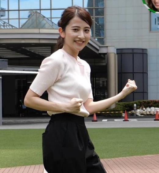 日比麻音子アナ エロかわいいニットおっぱいキャプ画像(エロ・アイコラ画像)